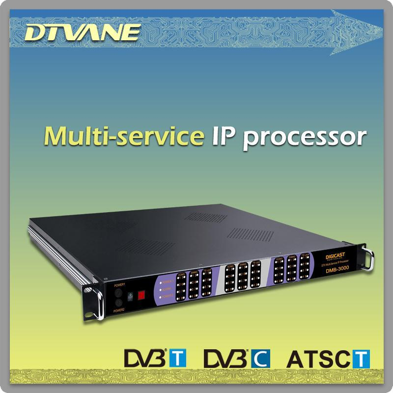(DMB-MT100)1 U chassis max to 3 modules IP Processor IP to COFDM DVB-T Modulator for 256*IP(SPTS/MPTS) to 4 DVB-T RF out