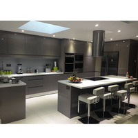 Hangzhou mdf high gloss lacquer modern dtc kitchen cabinets