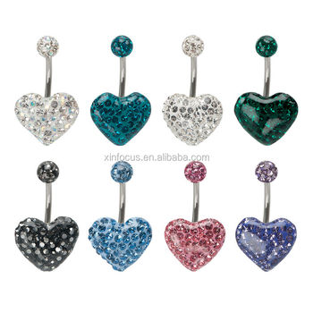 Multigem Fixed Epoxy Heart Fake Belly Rings Body Jewelry Buy Fake Belly Rings Fake Belly Button Ring Heart Belly Rings Product On Alibaba Com
