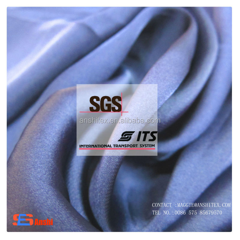ES1020 High Quality Polyester satin chiffon fabric for top, underwear, dress fabric