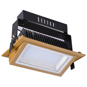 6in Dimmable 90RA Square Suspending 30W X 2 LED Slim Down Light