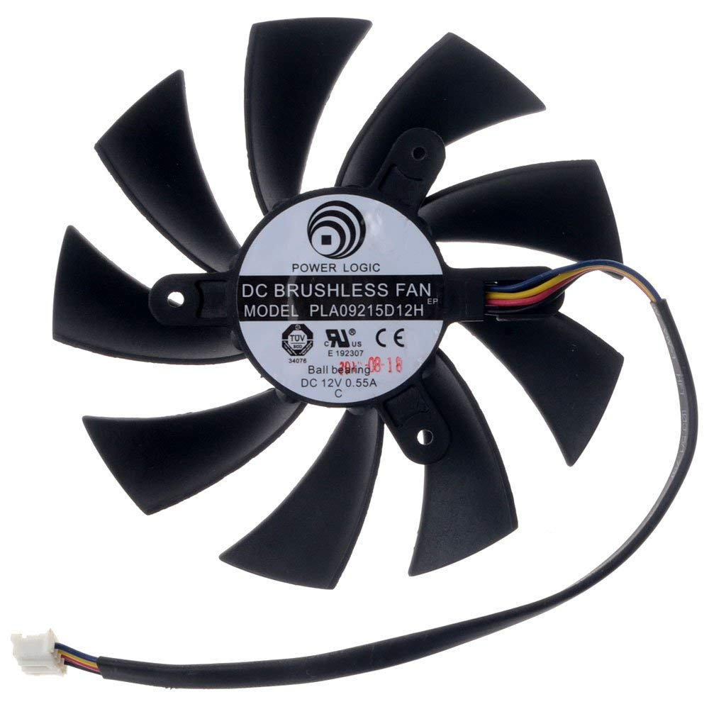 PLA09215D12H Graphics Card Fan 87mm DC 12V 0.55A 4-Pin Cooling Fan Brushless Fan for HD7870 HD7800 HD7850