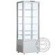 Air Cooling Fridge Four Sides Glass Door Five Shelves White Color Refrigerator Showcase