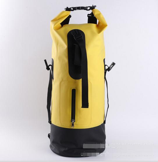 Custom printed logo survival 500D PVC outdoor waterproof dry Backpack