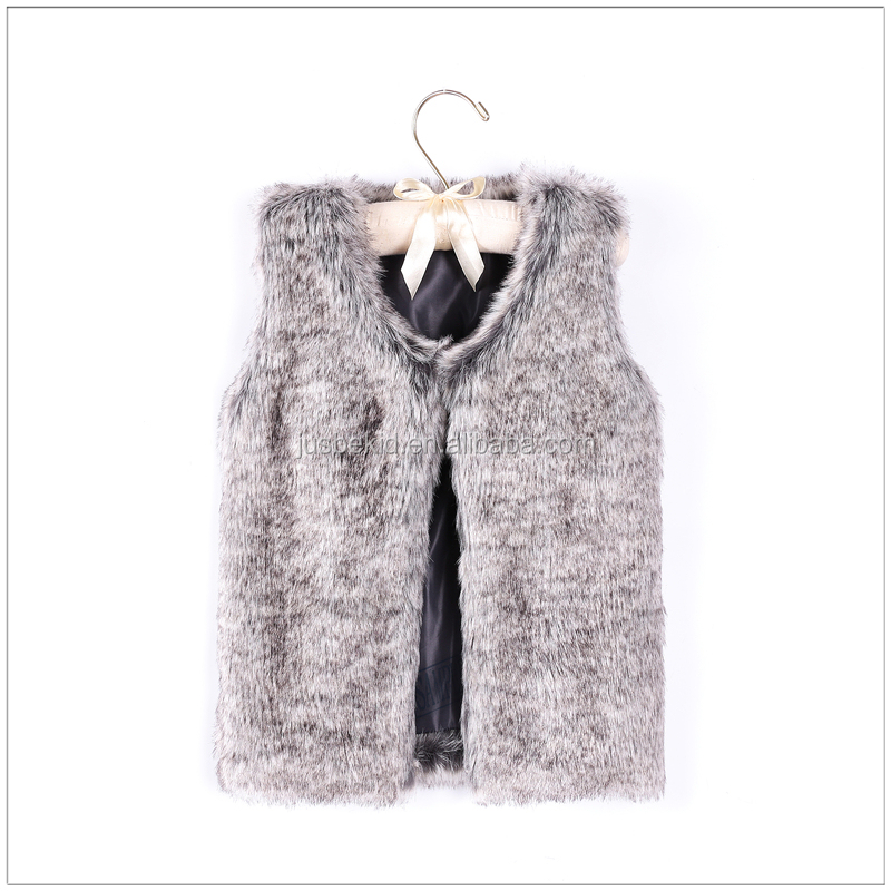 Children Clothing Winter Vest Fur Coat Warm Baby Girls Faux Fur Coat