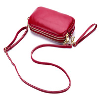 Modern stylish shape lady women soft genuine leather crossbody bag wholesale clutch 2020