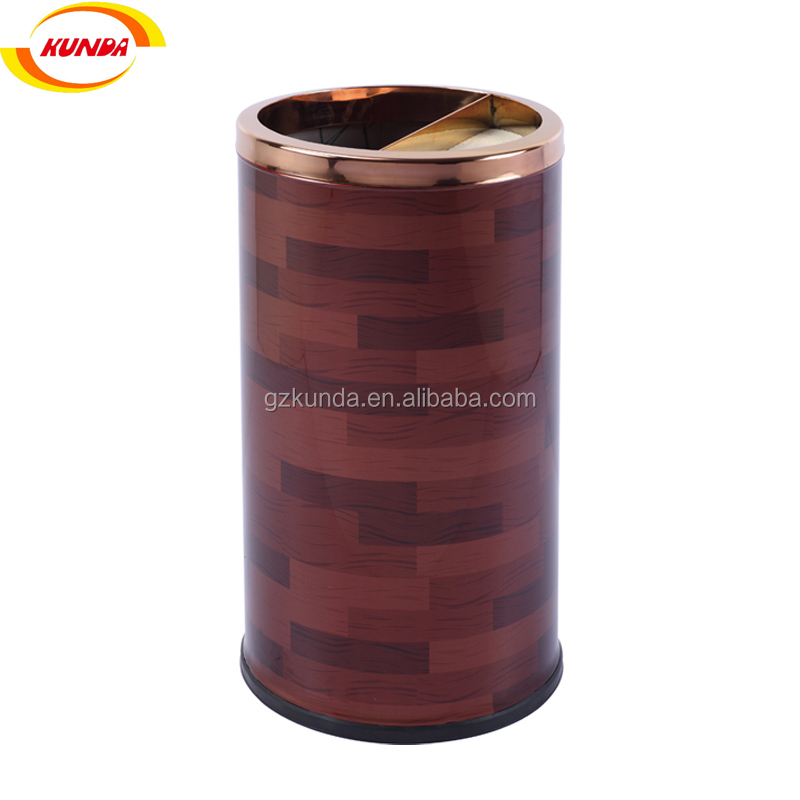 half open top ashtray bin round lobby half ashtray bin metal rubbish bin GPX-520
