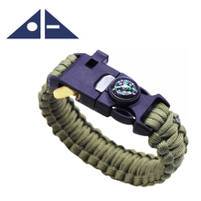 Best Paracord Bracelet for Outdoor Camping Survival Stylish Bracelet with Fire Starter, Loud Whistle, Compass & Emergency Knife