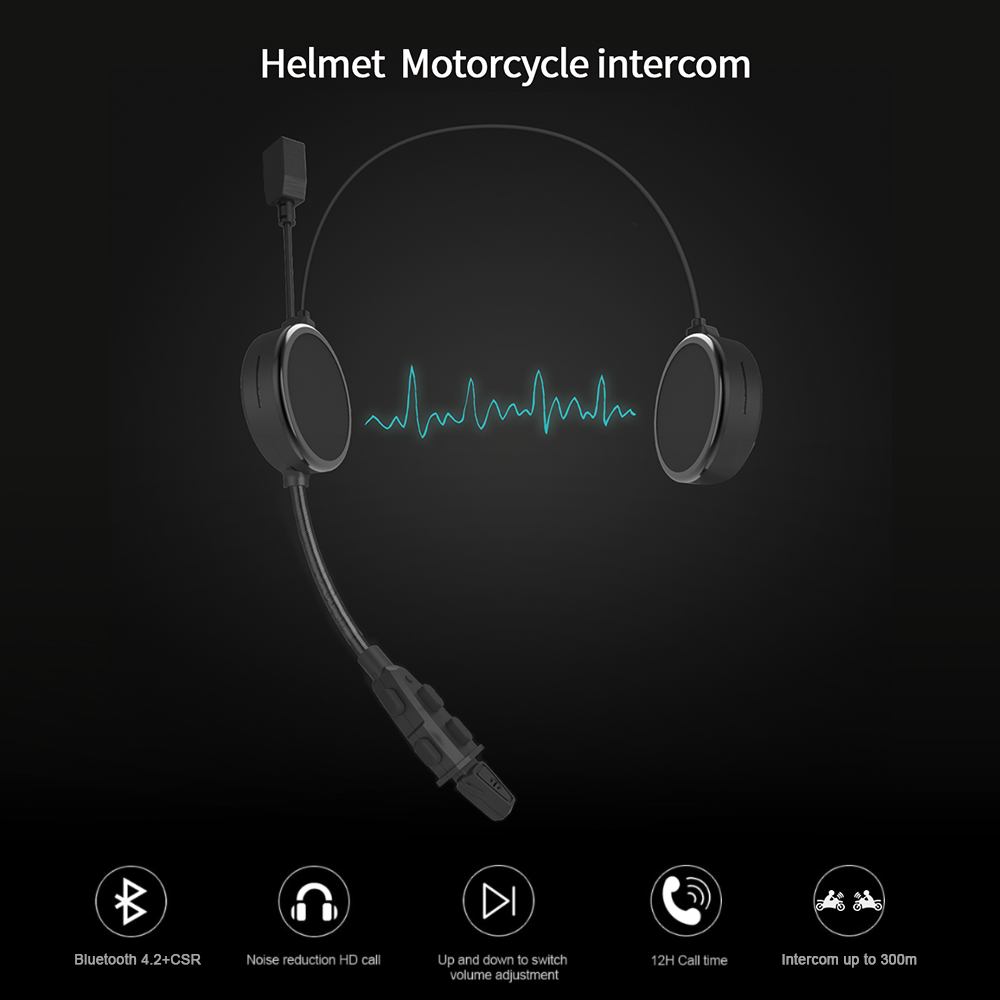 2019 Newest E300 motorcycle /motorcycle helmet bluetooth headset intercom with high quality
