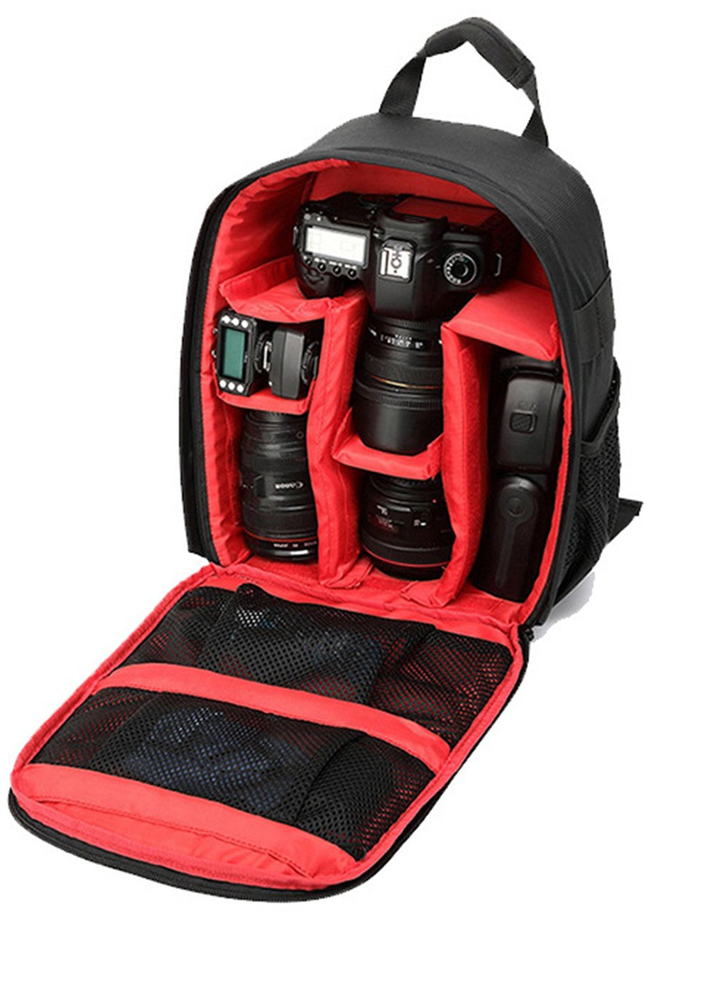 DSLR Camera Bag Backpack Video Photo Bags for Camera d3200 d3100 d5200 d7100 Small Compact Camera Backpack Green Lining