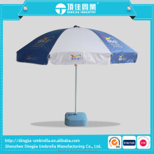 Promotional folding beach umbrella with custom logo