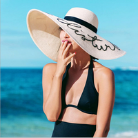Wholesale promotional summer paper straw hat