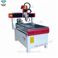 Mini Desktop CNC Router Engraving and Milling Machine/CNC Lathe 4 Axis QD-6090R