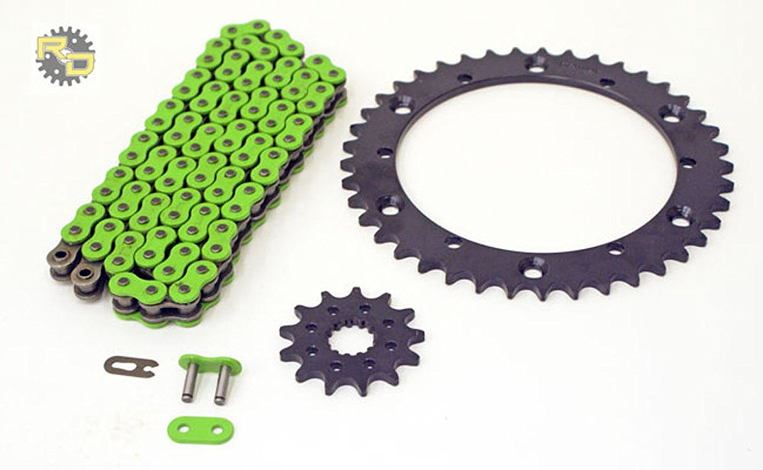 1991-1992 Honda Fourtrax 250 TRX250R Chain and Sprocket Kit Heavy Duty Green