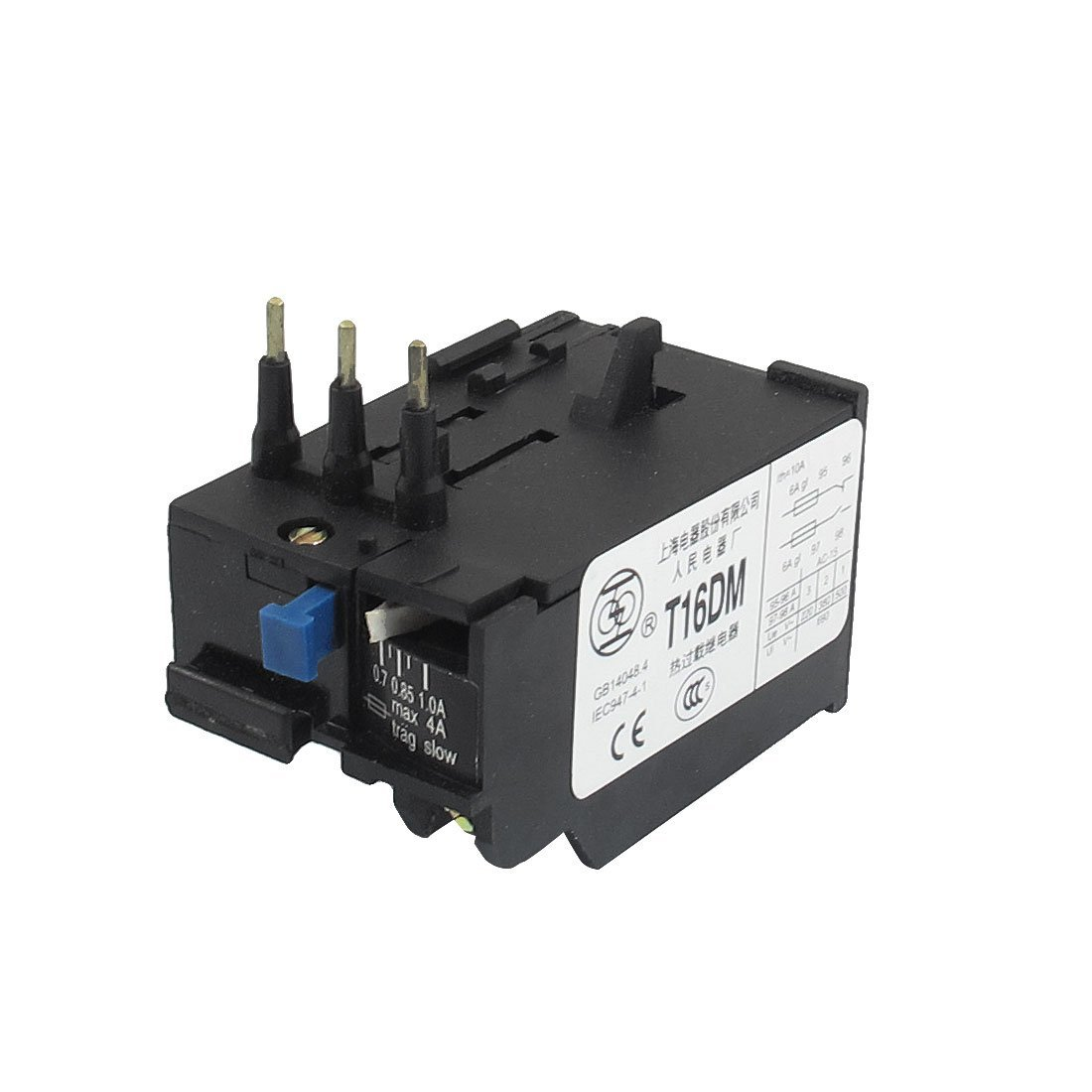 Buy Uxcell T16dm 3 Pole 07a 1a Current Range Motor Thermal Overload Relay 1no 1nc