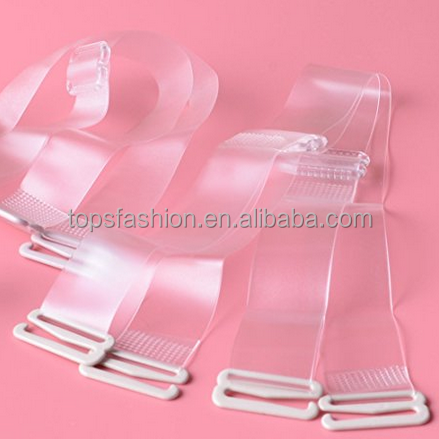Invisible Transparent Bra Strap Clear Women Bra Accessories For Underwear Shoulder Straps Intimates Silicone Bra Straps (Buckle