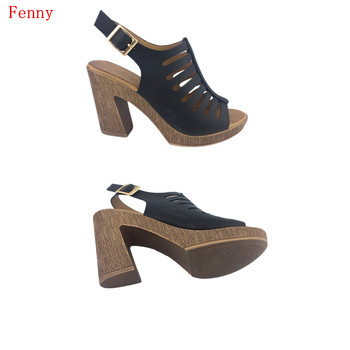 8fa2db60fd527 Wholesale Black Leather Wood Mid Heel Sandals - Buy High Heel Sandals,Wood  Shoes,Heels Sandals Product on Alibaba.com