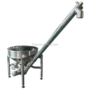 Vibrating Hopper Inclined Screw Conveyor/Auger Feeding Machine