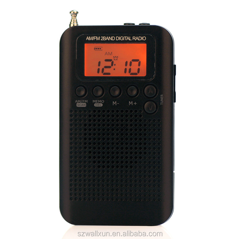 Hot Mini Multifuncional Digital Am Fm Rádio Portátil Com Alto-falantes