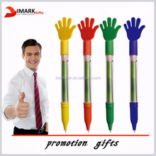 Hand shaped pull out banner pen finger shaped promotion banner pen