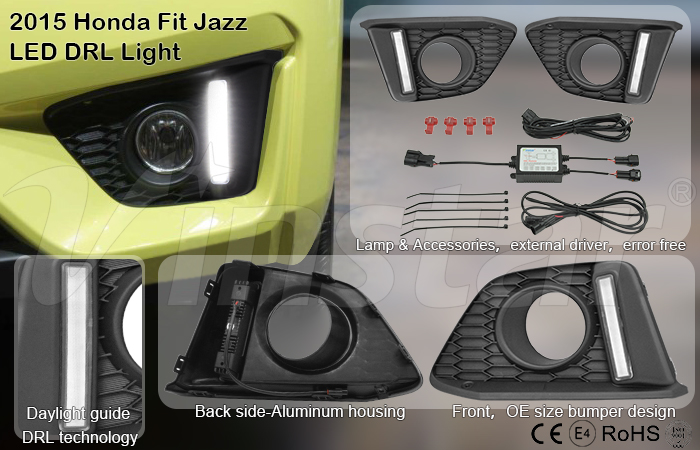 Fit Jazz led DRL led daytime running light for Honda Fit Jazz 2014-