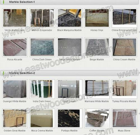 white marble project material