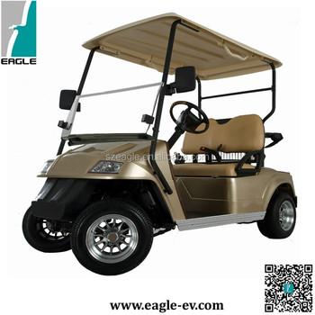 Elektrische Golfkar Ce Goedgekeurd 2 Zetels Batterij Aangedreven