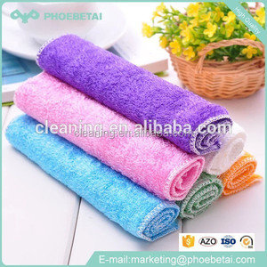 High quality quick dry customized plain 100% kitchen magic bamboo washcloth