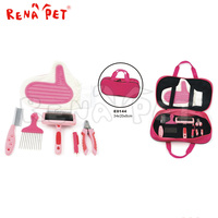 6 pieces dog grooming tools,pink dog grooming set
