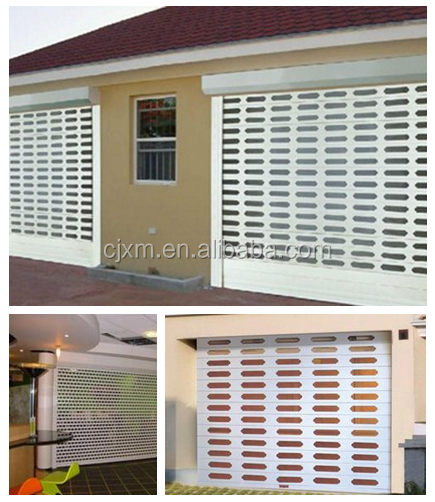 Thickness 0.6mm aluminum alloy metal rolling grille door shutter