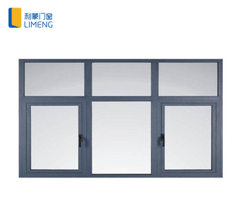 Wood Grain Soundproof Aluminium Frame Casement Window With ...