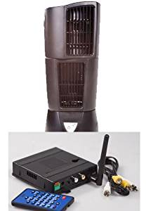 EyeSpySupply Complete Wireless Covert Oscillating Fan Remote View Quad View Spy Camera