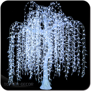 Led tree light artificial lighted weeping willow tree