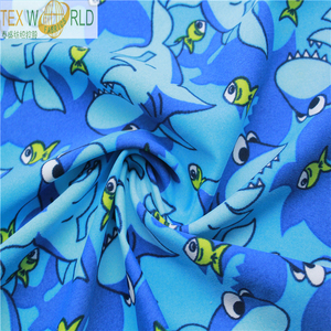 UV protect 82% nylon 18% spandex anmial print fabric for swimwear