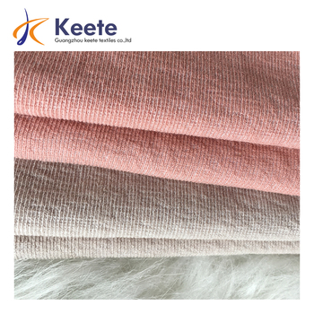 melange color effect strpes jacquard pattern cotton polyester knitting fabric