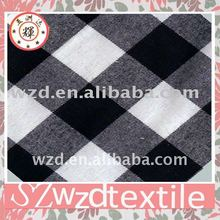 Black white plaid fabric