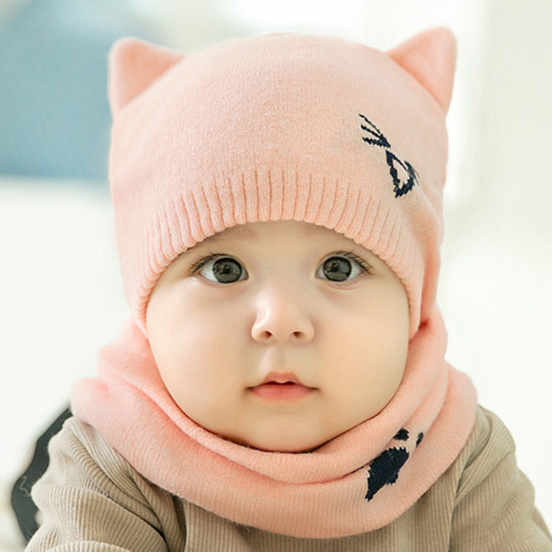Kids Protects Ear Bonnet Baby Winter Caps + Scarf Suits - Buy Baby ... c615f9335e7