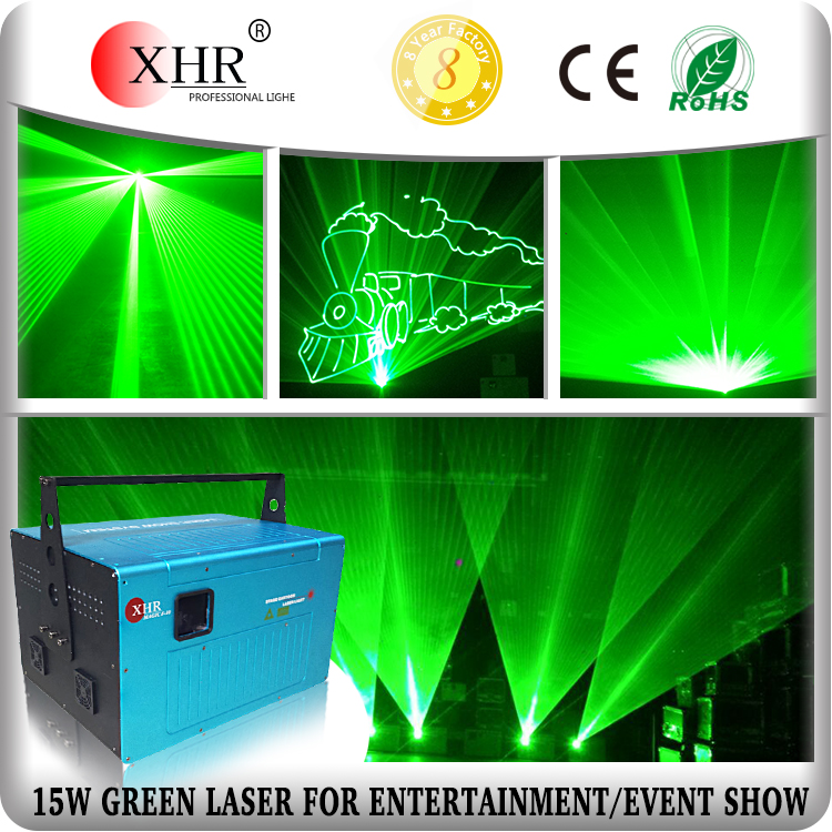 Outdoor Text/Logo ILDA Laser Projector,15W Green Laser Light Event Stage Lighting