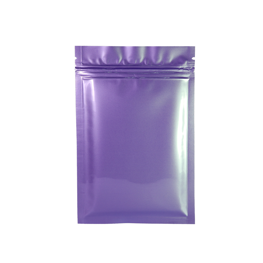 wholesale colorful Small Aluminum Foil food packing bags with zip lock