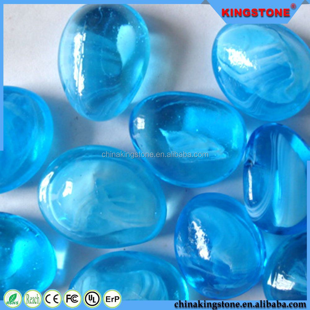 2015 new product glow outdoor glass pebble,garden pebble stone decoration from manufacturer,pink pebble