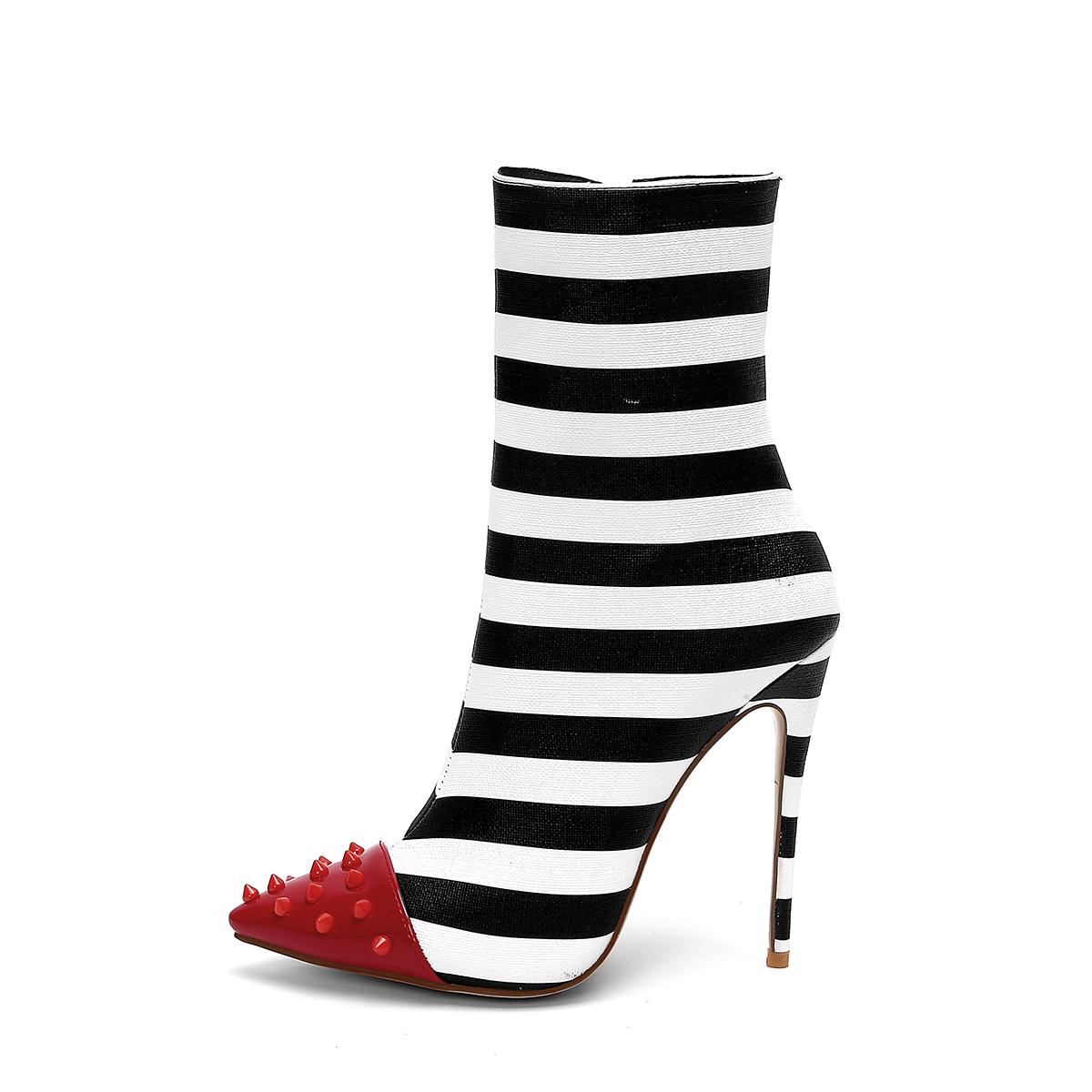 Su misura Chaussure Femme 12 centimetri Tacchi A Spillo Stivali Modello Della Banda Delle Signore Calzature Inverno Scarpe