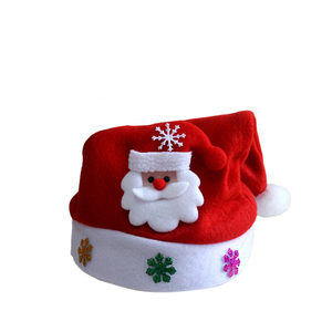 CYSHMILY 2018 Christmas Promotion Ornaments Red Ordinary Hat Santa Claus Adult /Children's Christmas Hat
