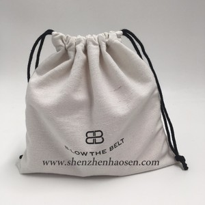 Recycled Custom Logo Drawstring Cotton Canvas Belt Bag