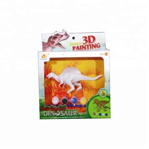 DIY Education Dinosaur Figurine Toy 3D Painting Kit for Kids