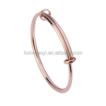 PVD Plating Expandable Adjustable Bulk Wire Wrapped 316L Bangle Bracelet