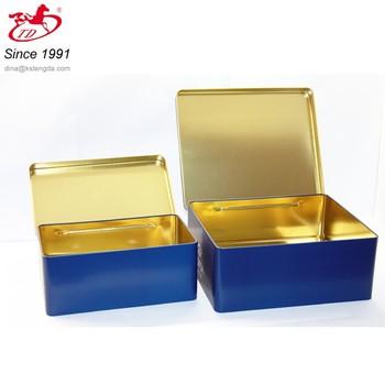 Superbe TD  Rectangular Large Tin Storage Box With Hinge,metal Storage Tin Box