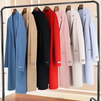 Hand sewn women wool coat 100% cashmere double side wool 2016 autumn winter new fashion