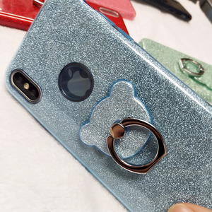 3 in 1 bling bling for samsung galaxy j7 elegant,mobile phone shell for samsung j7 case cover with finger ring