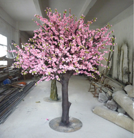 Decorative large artificial tree of cherry blossom trees