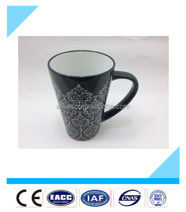 2015 new bulk chinese tea cups,ceramic coffee cup with c-handle
